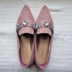New pink Shoedazzle jeweled flats